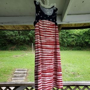 KIM ROGERS 4TH of July short sleeve dress size PM
